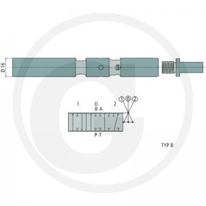 Steuerschieber wahlweise dw, ew oder dw mit Schwimmstellung für die 50 l/min Steuergeräte X-P50-S-(A-D) Kolben