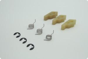 Klaue, Klauenfeder und Sicherungsring als Set (je 3x) für Seilzugstarter 2-Takt AS-Motor