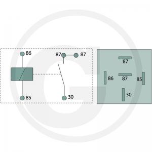 Strom-Stoß-Relais für die Ansteuerung elektromagnetischer Umschaltventile in 12 Volt