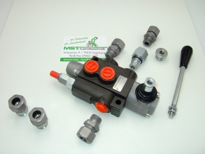 Steuergerät Holzspalter Stapler Hydraulik 50L 1-fach DW  -1/2 Anschlüsse