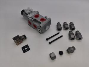 Hydraulik Umschaltventil Ventil 6/2 Wege 12 Volt 1/2 50 l/min Wechselventil Rotator Zange Holzgreifer Frontlader Magnetventil Wegeventil