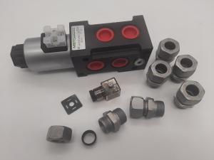 Hydraulik Umschaltventil Ventil 6/2 Wege 12 Volt 1/2 90 l/min Wechselventil Rotator Zange Holzgreifer
