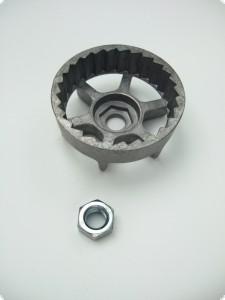 Mitnehmer für Starter, Starteranzug, Seilzugstarter Aluminiummitnehmer AS Motor Mäher mit Mutter 3921