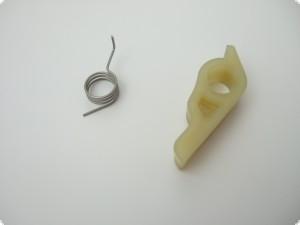 Klaue, wahlweise mit Klauenfeder und Sicherungsring, frei kombinierbar für Seilzugstarter 2-Takt AS-Motor