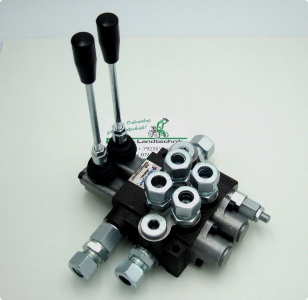 Steuerventil Hydraulikventil 50 l 2-fach Hydraulik Steuergerät Gerätebetätigung
