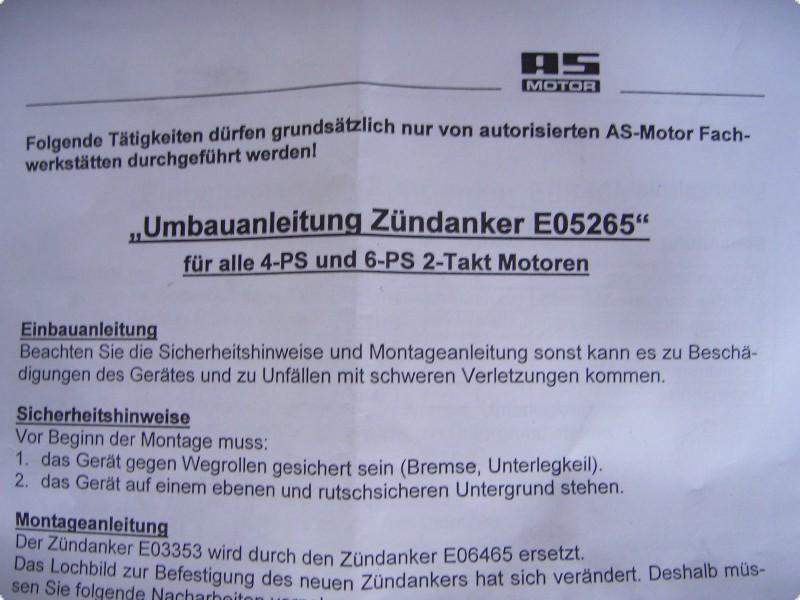 AS Motor Mäher Zündanker Zündspule  Originalteile Allmäher