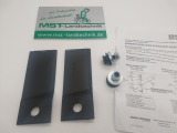 2 Stück Original Messer Klinge Messerklinge mit Befestigungselementen für Aufsitzmäher AS Motor 900, 910, 911 Enduro G06680115