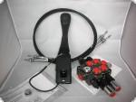 Hydraulikventil Steuergerät für Frontlader 2xdw mit Schwimmstellung 60l/min inkl. Dauerdruckstößel John Deere