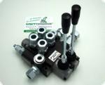 Steuerventil Hydraulikventil P40 2-fach Holzspalter Hydraulik Steuergerät Frontlader mit 15 L Pheripherie