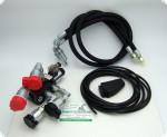 Set DVS 6/2 Umschaltventil 6/2 Wege mit Winkelkupplungen, Schläuchen, Taster & Kabel