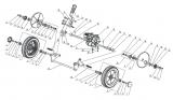 Vorderrad mit Verzahnung und Kugellager Mulch-Rasenmäher AS 460 AS Motor