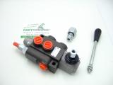 Steuergerät Hydraulik 50L 1-fach EW, DW mit Schwimmstellung wählbar + Druckweiterführungsbuche