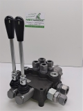 Hydraulikventil 80L 2-fach Holzspalter Hydraulik Steuergerät mit Anschlüssen