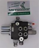 Hydraulikventil 80L 2-fach Holzspalter Hydraulik Steuergerät mit Anschlüssen und Bowdenzughülsen