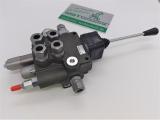 Hydraulikventil 80L 2-fach Holzspalter Hydraulik Steuergerät mit Anschlüssen und Joystick manuell